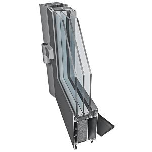 drzwi aluminiowe energooszczedne PE78n profil